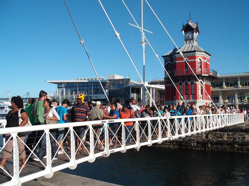 Swing Bridge at V&A Waterfront Clock Tower