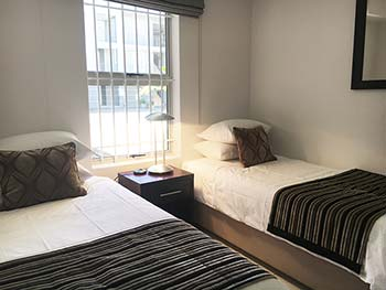 Bayview Self-Catering bedrooms are spacious, each with own en-suite
