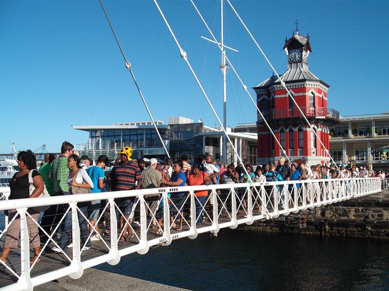 Swing Bridge at V&A Waterfront Clock Tower
