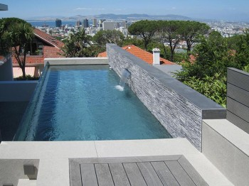 View of Cape Town City and Table Bay from Pool Deck