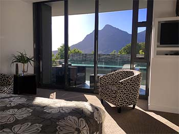 Bayview Room 002 has brilliant views over the pool of Table Mountain and Cape Town